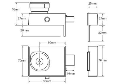 union 4l67e high security british standard rim lock