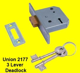 Union 3 Lever Locks at discounted prices